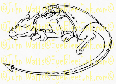 Tattoo Design - Sleeping Dragon